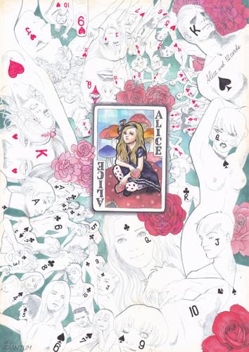 アリスとカードたち